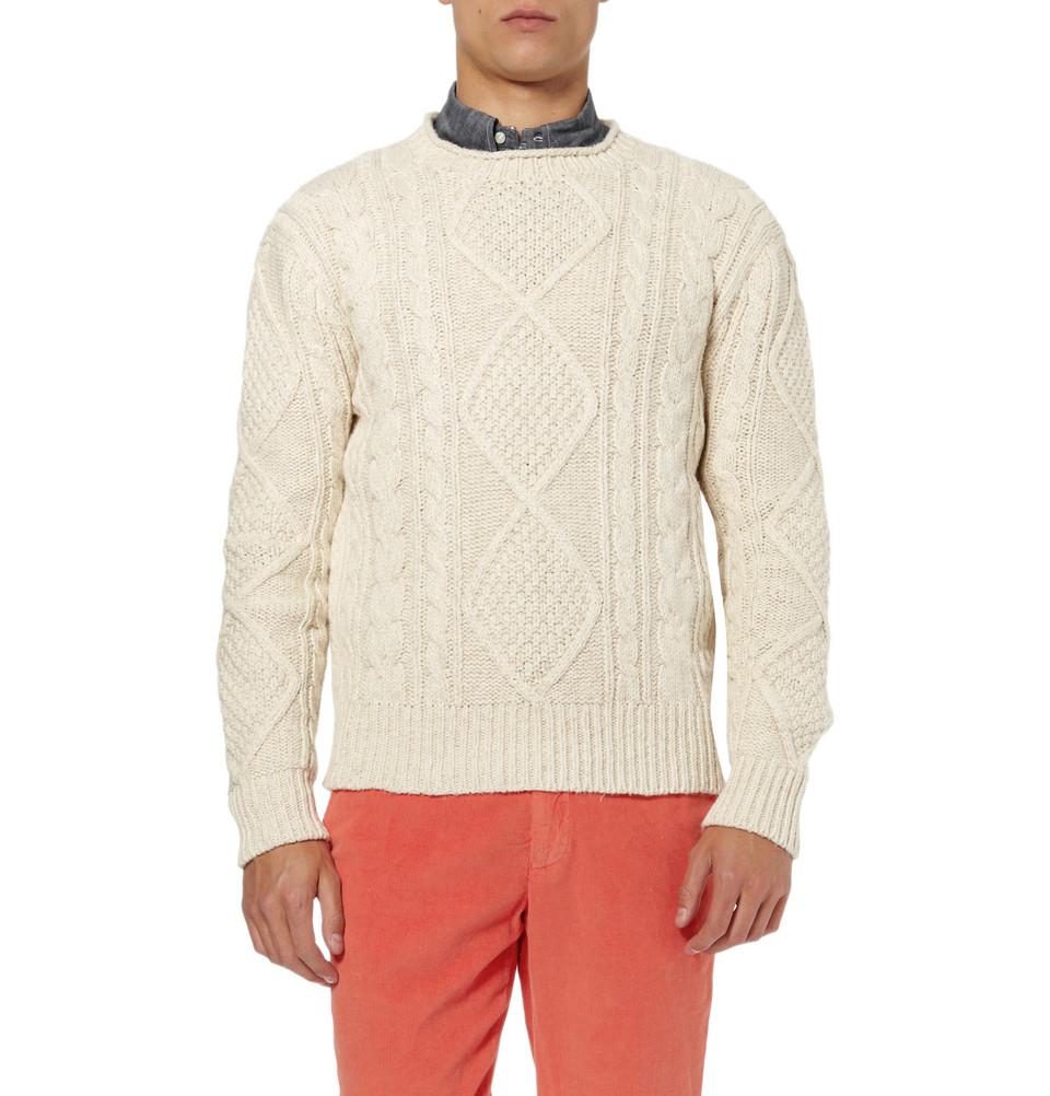ralph lauren cable knit aran sweater