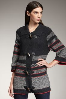 Splendid Fair Isle Toggle Sweater - Lyst