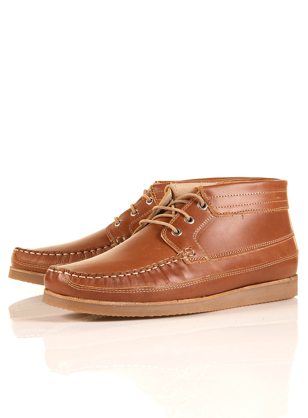 topman oliver spencer boat boots in brown for lyst