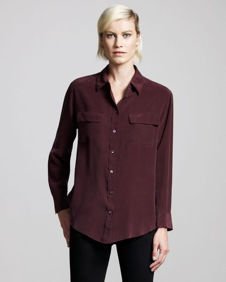 Stain Removal Wine Silk Blouse 54