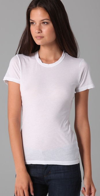 37940d33a James Perse Short Sleeve Crew Neck Tee in White - Lyst