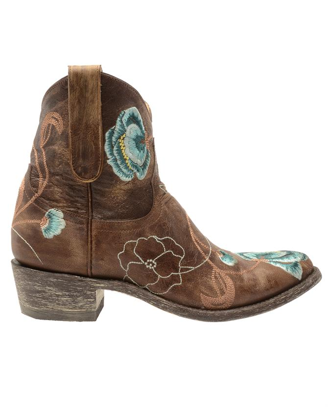 091d4967e41c9 Mexicana Leather Cowboy Boots with Floral Embroidery in Brown - Lyst