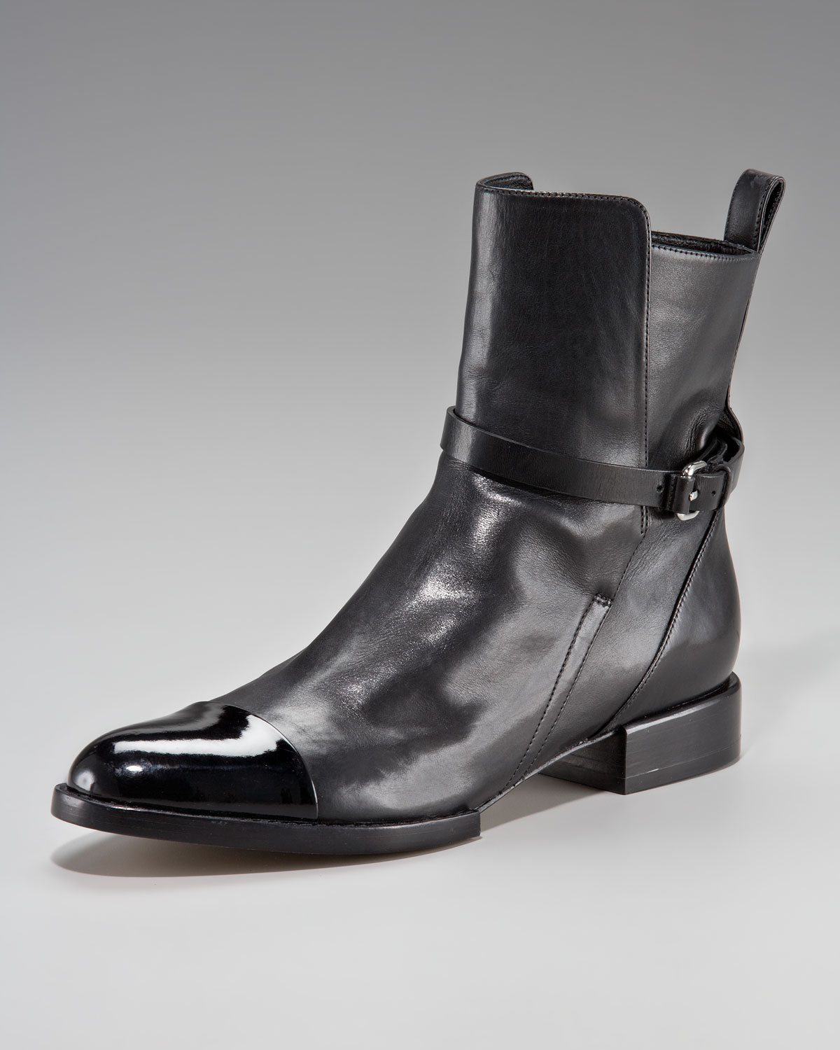 Alexander Wang Leather Cap-Toe Ankle Boots buy cheap genuine clearance wide range of cheap sale supply d7HT4roj