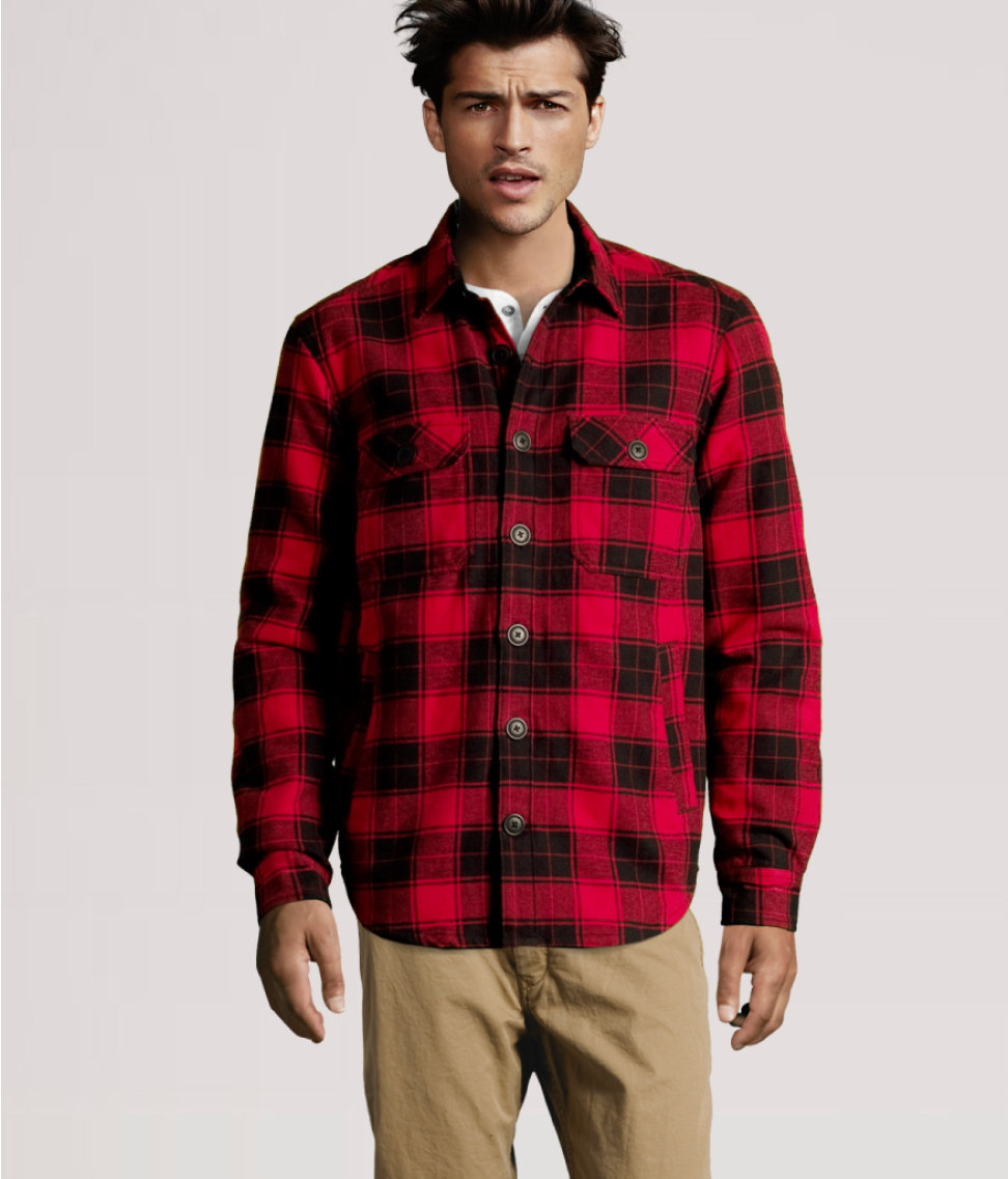 H&m Flannel Shirt in Black for Men | Lyst