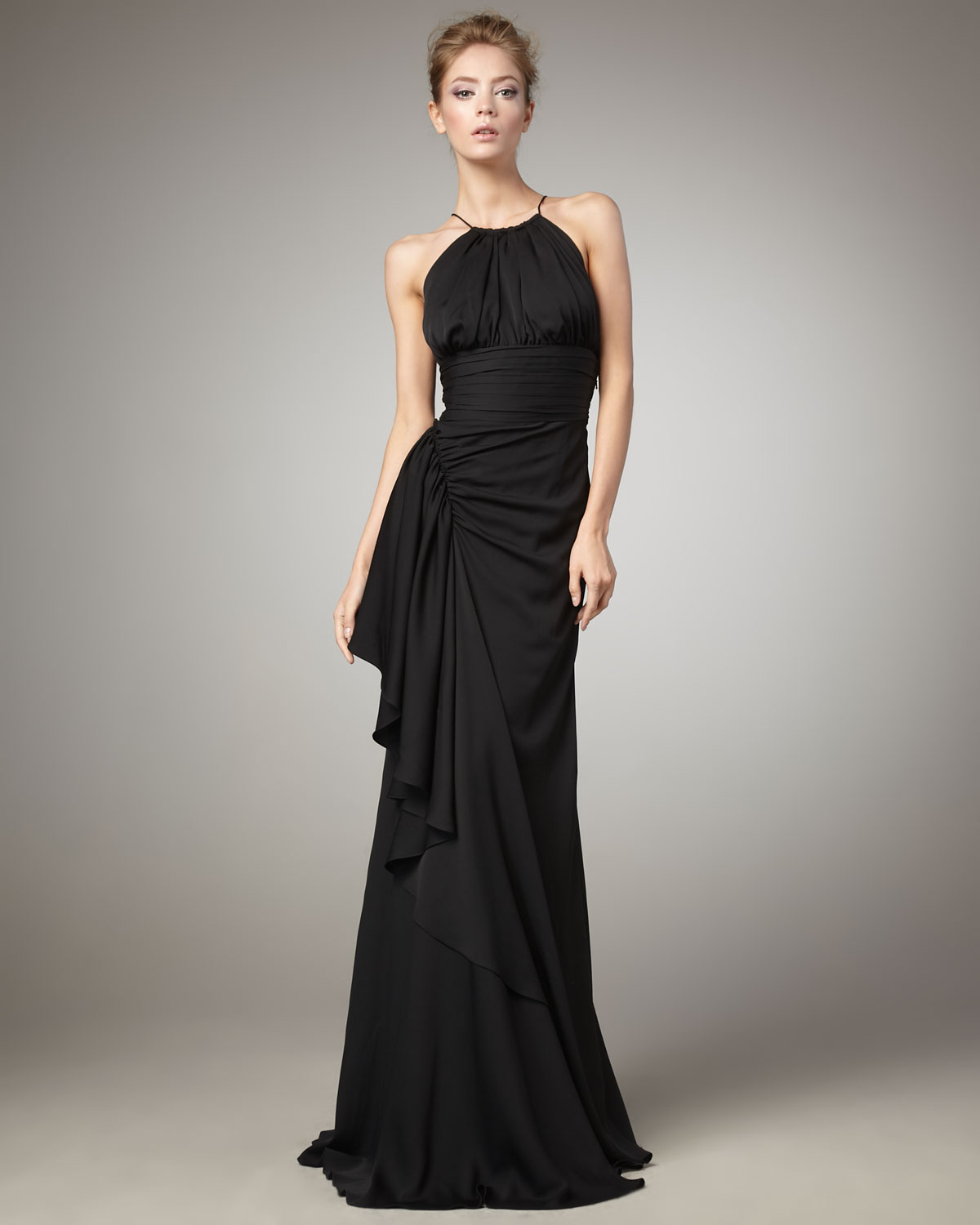 Robert rodriguez frances halter gown black in black lyst gallery previously sold at neiman marcus ombrellifo Choice Image