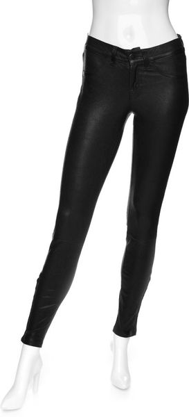 J Brand Skinny Leather Pants in Black - Lyst