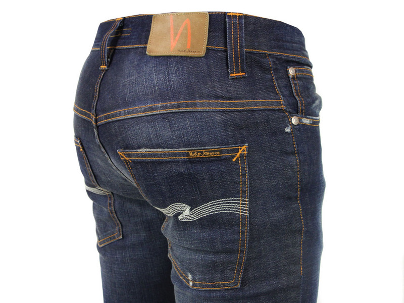 nudie jeans thin finn recycle replica jeans in blue for. Black Bedroom Furniture Sets. Home Design Ideas