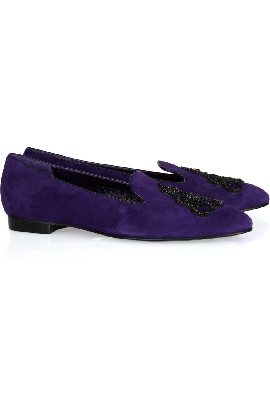 Ralph Lauren Collection Blue Crocodile Shoes