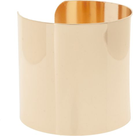 Asos Collection Asos Pack Of Two Smooth Double Cuffs in Gold