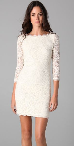 Dvf Zarita Lace Sheath Dress Zarita Lace Dress in White