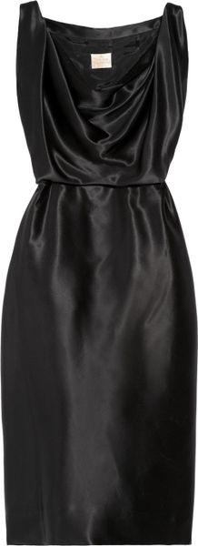 Vivienne Westwood Gold Label Savannah Silk-satin Dress in Black