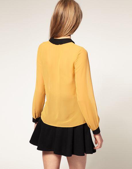 Yellow Satin Blouse 118