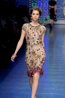 Dolce & Gabbana Spring 2012 Crystal Encrusted Cocktail Dress - Lyst