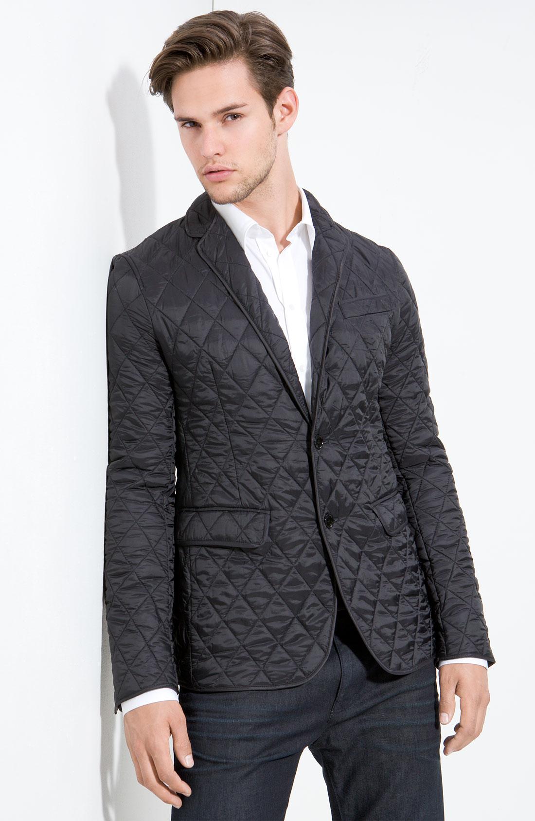 Lyst - Burberry Quilted Blazer in Black for Men : quilted blazer - Adamdwight.com