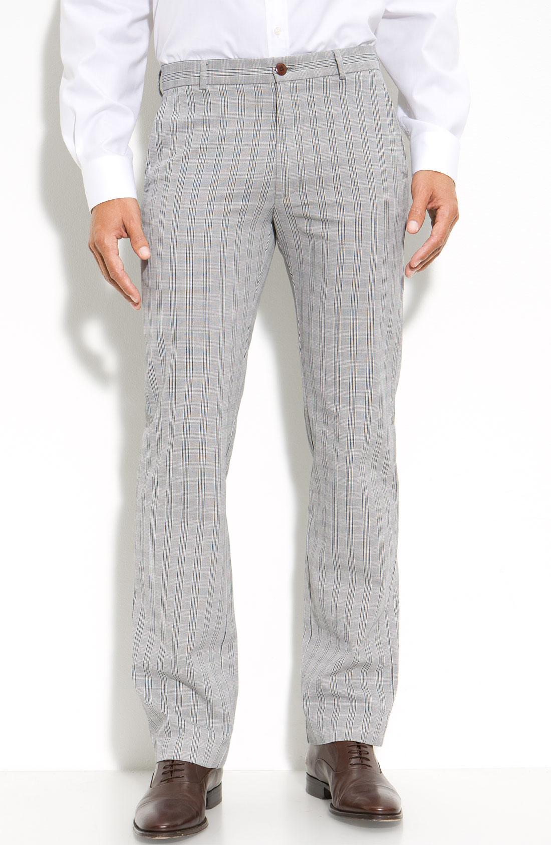 Dockers Slim Plaid Work Khaki Pants In Gray For Men Grey