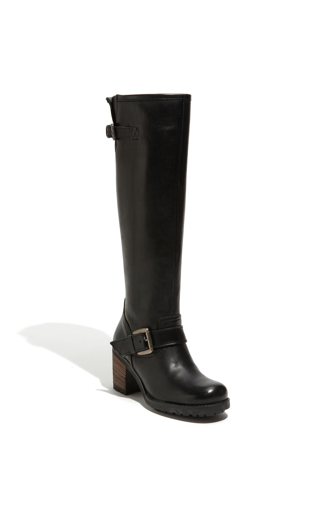 aldo aldo monforte buckle boot in black black snow
