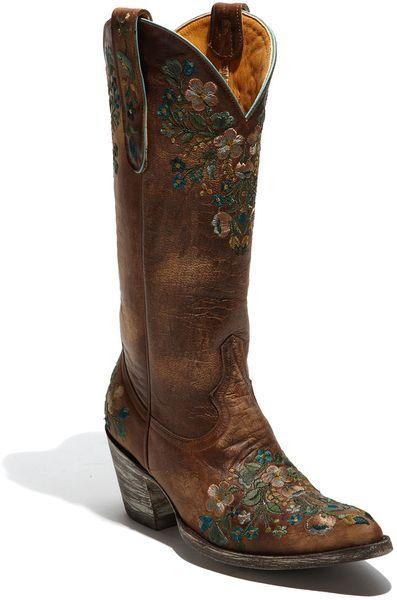 old gringo sora boot in brown  brass