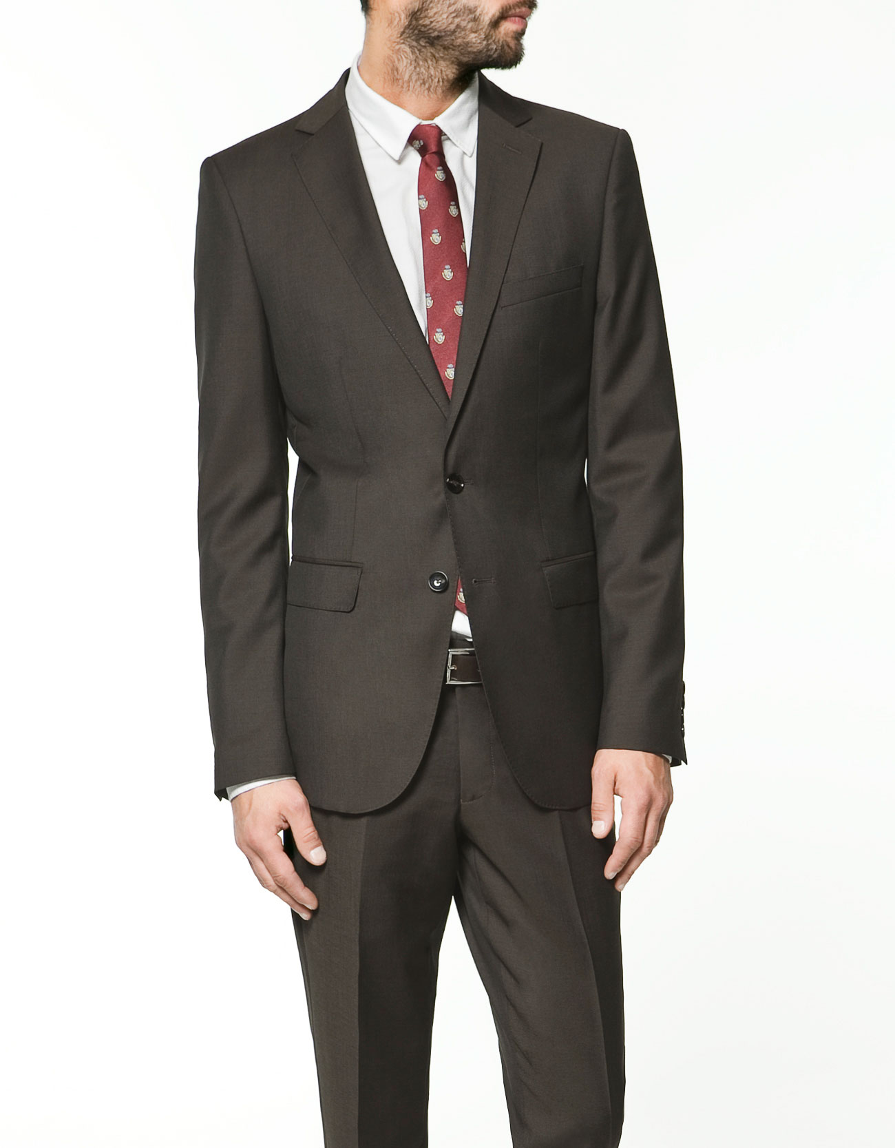 Zara Brown Formal Blazer In Brown For Men | Lyst