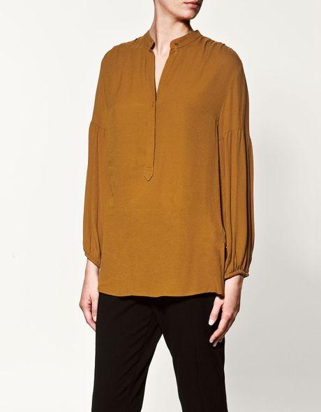 Zara Mustard Blouse 80