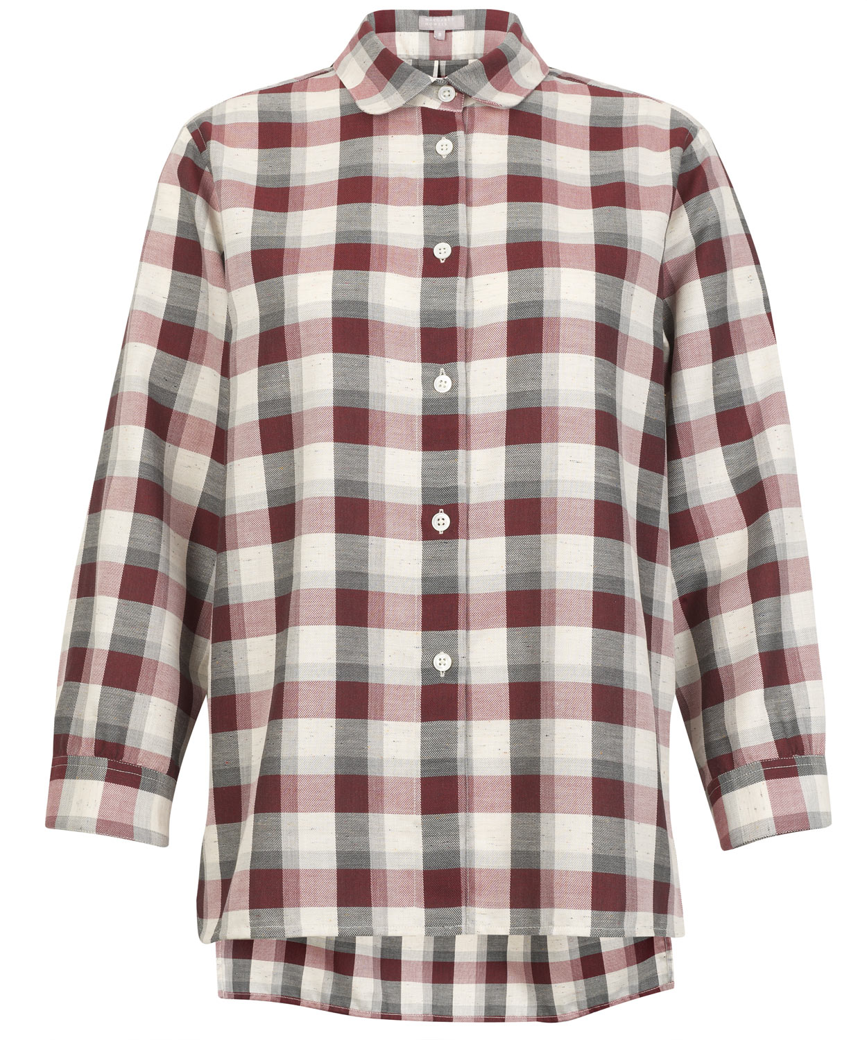 Lyst Margaret Howell Red And Grey Check Shirt In Red