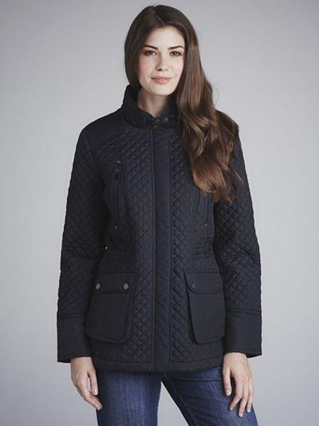 lewis quilted jacket black in black lyst