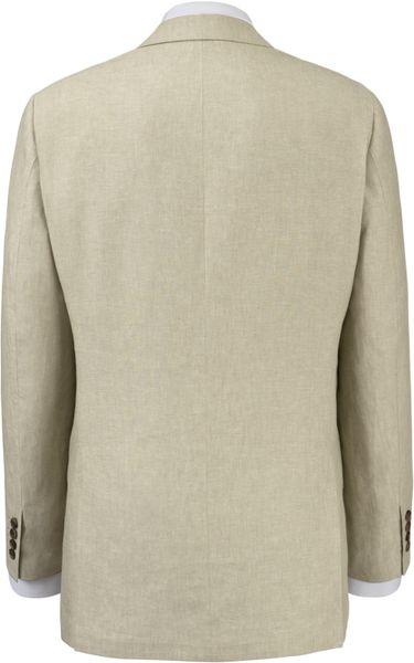 John Lewis Men Organic Linen Suit Jacket Natural In Beige