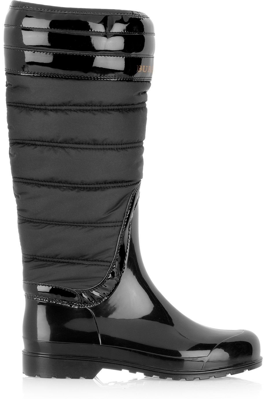 Lyst - Burberry Quilted Patent-rubber Wellington Boots in Black : burberry quilted rain boots - Adamdwight.com