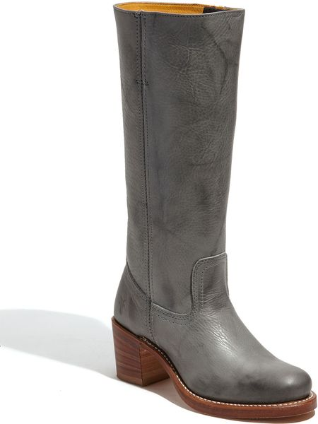 Frye Sabrina Boot In Gray Grey Lyst