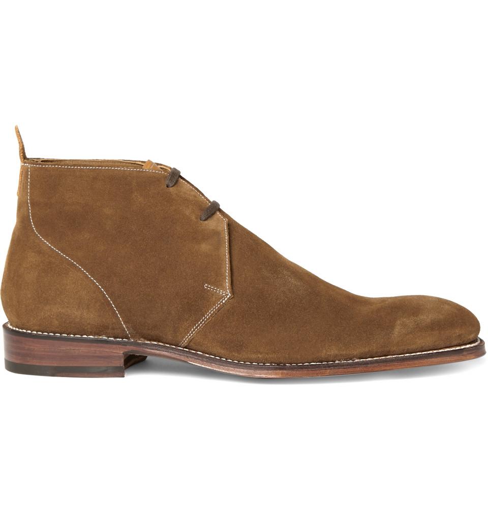 grenson smith suede desert boots in beige for desert