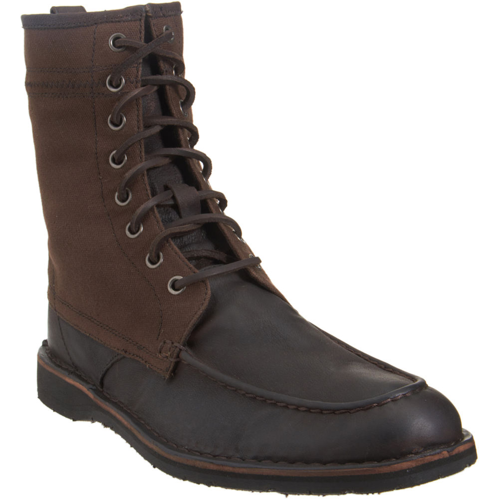 john varvatos hipster work boot in brown for men lyst
