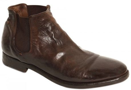 alberto fasciani buffalo leather chelsea low boots in brown for men lyst. Black Bedroom Furniture Sets. Home Design Ideas
