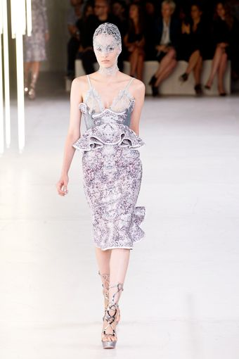 Alexander McQueen Spring 2012 High Waisted Fishtail Skirt - Lyst