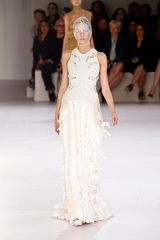 Alexander McQueen Spring 2012 White Cut Out Embellished Gown