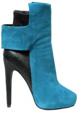 Aperlai 130mm Suede Stretch Calf Low Boots