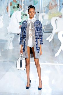 Louis Vuitton Spring 2012 White and Blue Crocodile Leather Tote Bag - Lyst