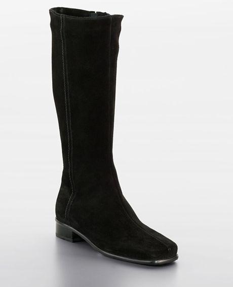 la canadienne libbie boots in black black suede lyst