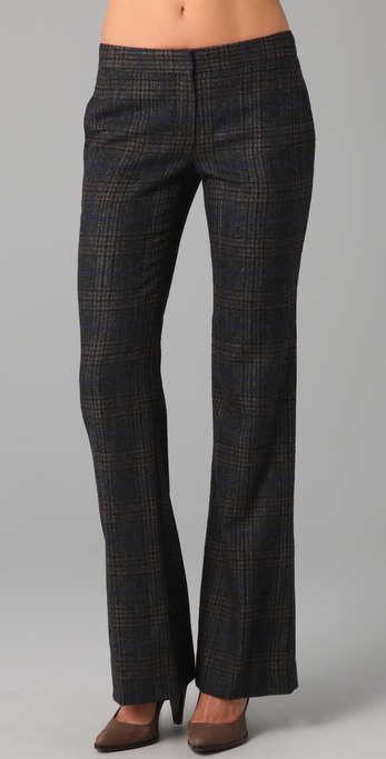 Theory Yadie Plaid Pants in Black | Lyst