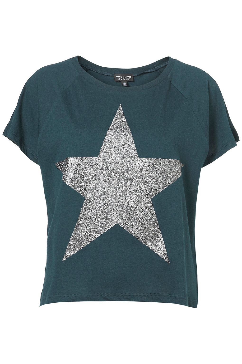 6a1c72b759a4 TOPSHOP Glitter Star Tee in Gray - Lyst