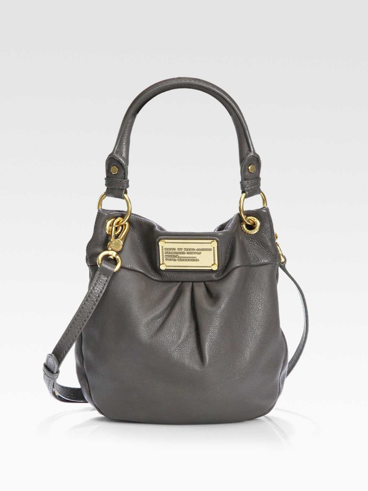 3bbe4ad90d3c8 Marc By Marc Jacobs Classic Q Mini Hillier Hobo Bag in Black - Lyst