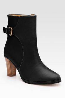 A.P.C. Leather Buckle Ankle Boots - Lyst