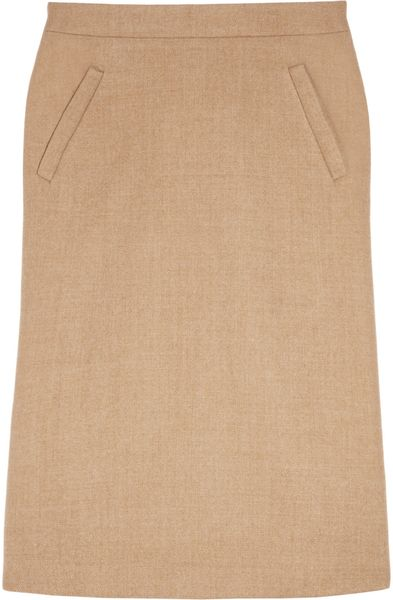 J.crew Wool Pencil Skirt in Beige (oatmeal) - Lyst