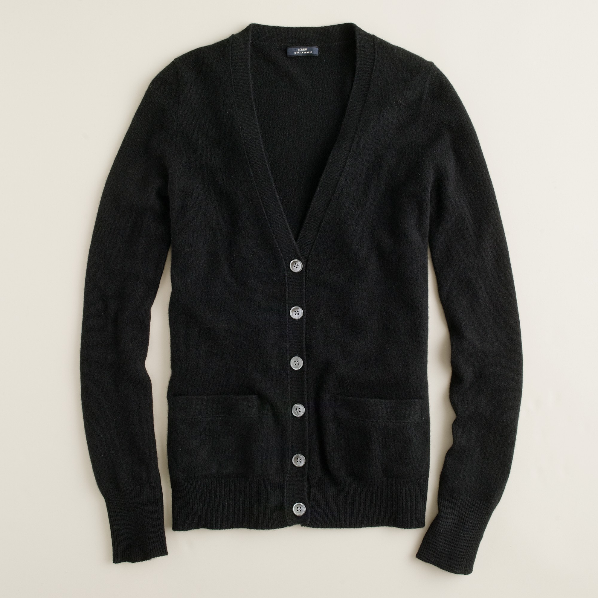 J.crew Collection Cashmere Boyfriend Cardigan Sweater in Black | Lyst