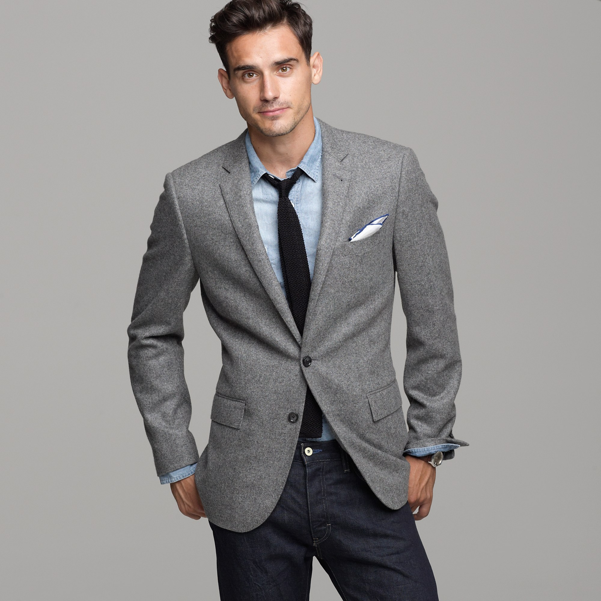 J Crew Cashmere Sportcoat In Ludlow Fit In Gray For Men Lyst