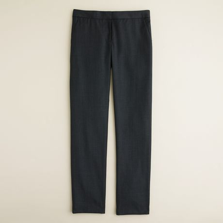 J.crew Paley Pant in Pinstripe Super 120s in Gray (charcoal)