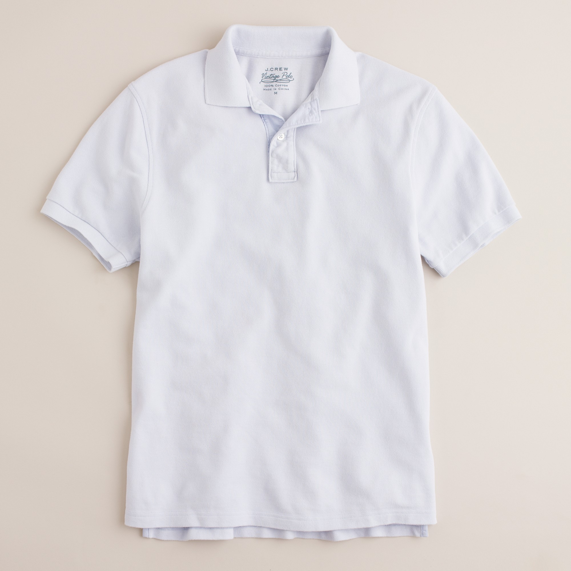 a403a31c Lyst - J.Crew Vintage Polo in Tailored Fit in White for Men