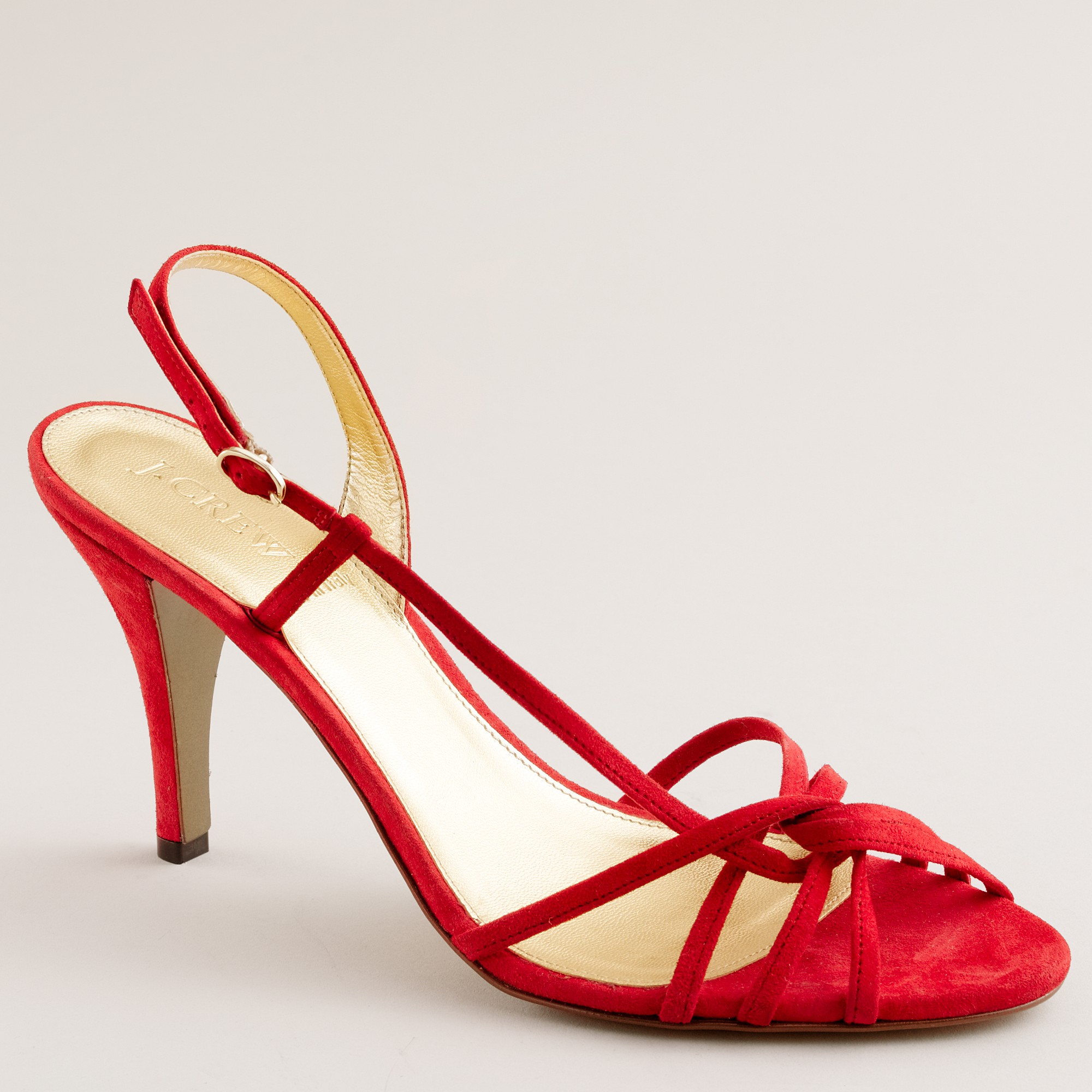 J.crew Rory Strappy Sandals in Red | Lyst