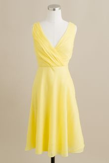 J.Crew Evie Dress in Silk Chiffon - Lyst