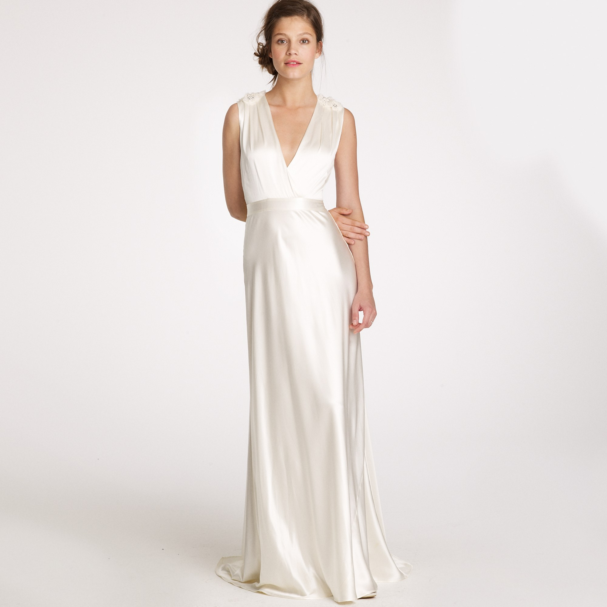 J.crew Rosabelle Gown In White (ivory)