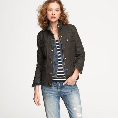 J Crew The Downtown Field Jacket In Brown Mossy Brown Lyst