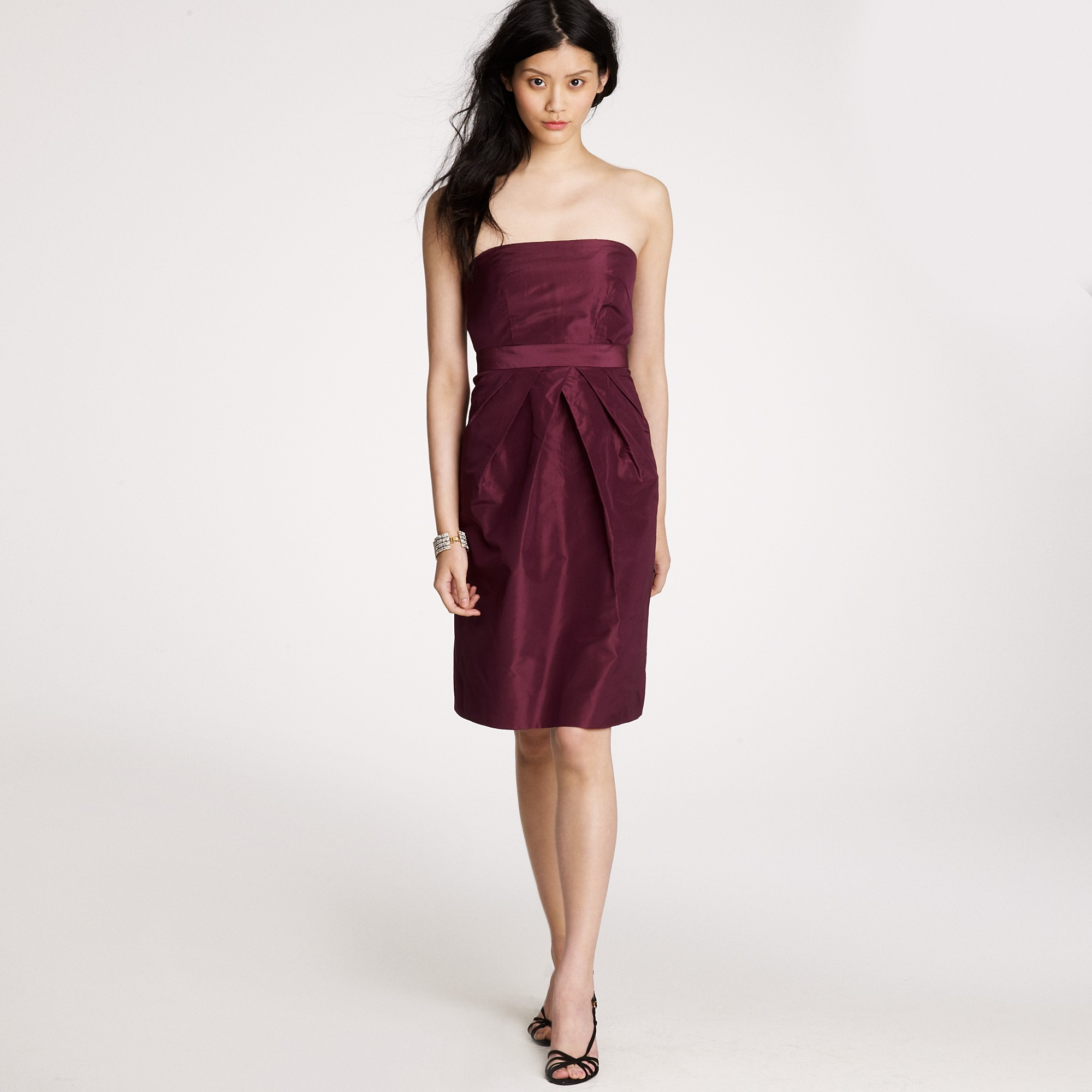 Adrienne Dress In Silk Taffeta: J.Crew Kayla Dress In Silk Taffeta In Red